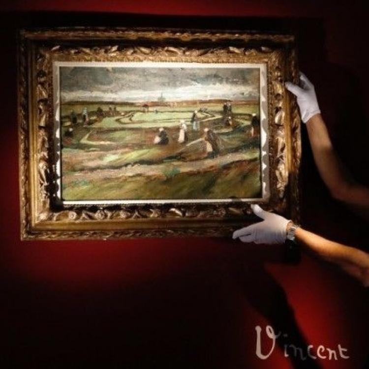 梵高罕見風景畫法國拍賣  6,630萬成交