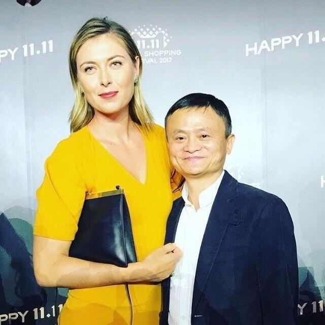 舒拉寶娃「雙11」上海撑馬雲