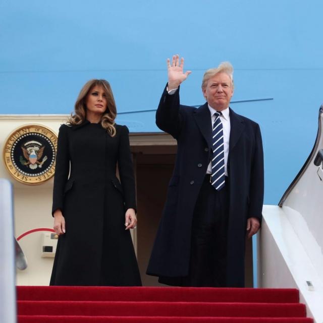 特朗普抵京訪華