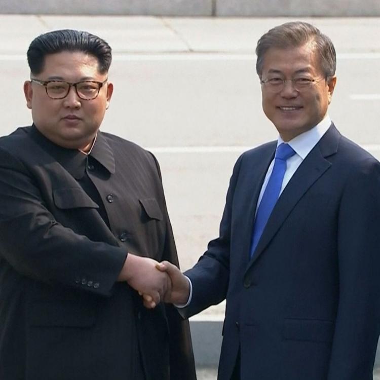 韓朝首腦板門店展開會談