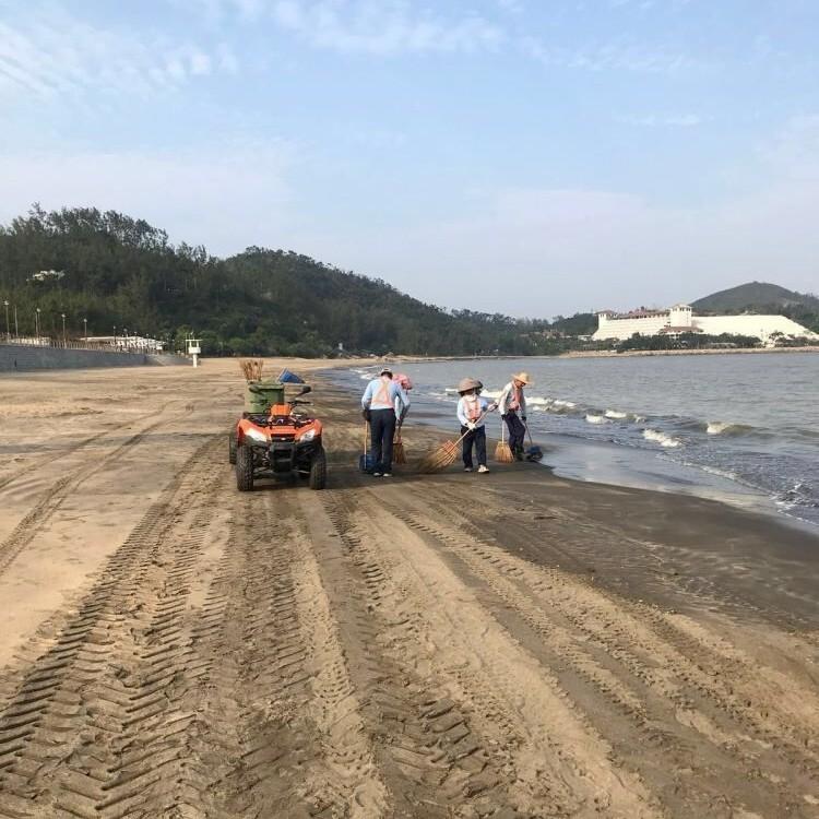 局方籲避免進入泳灘沙面