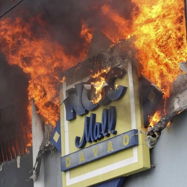 菲律賓商場大火 37人恐罹難