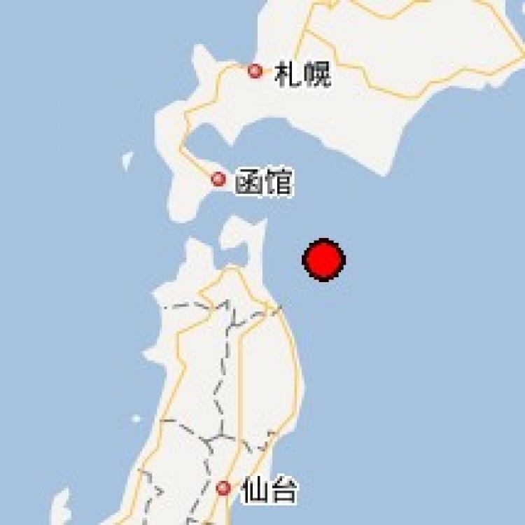 日本本州東岸近海發生6.1級地震