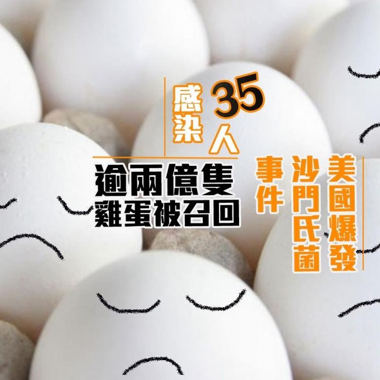 35人感染 逾兩億隻雞蛋被召回