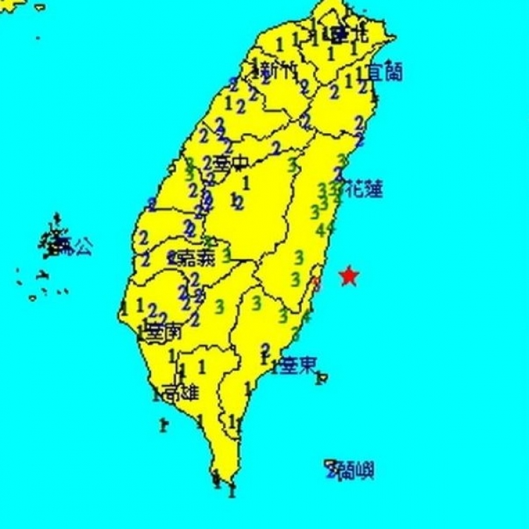 花蓮對出海域5.6級地震
