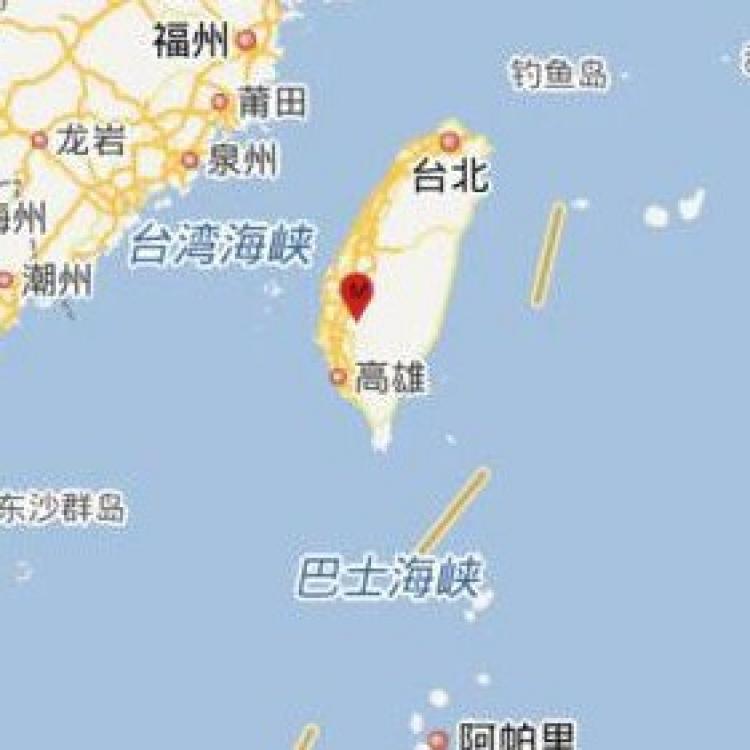 台灣台南市發生5.2級地震