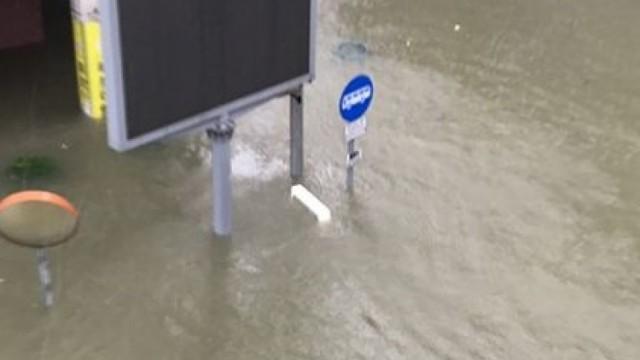 【山竹直擊】內港水位超過1.5米