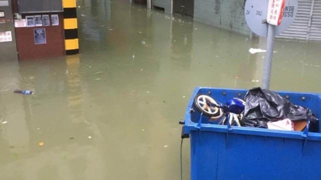 本澳多處岀現嚴重水浸
