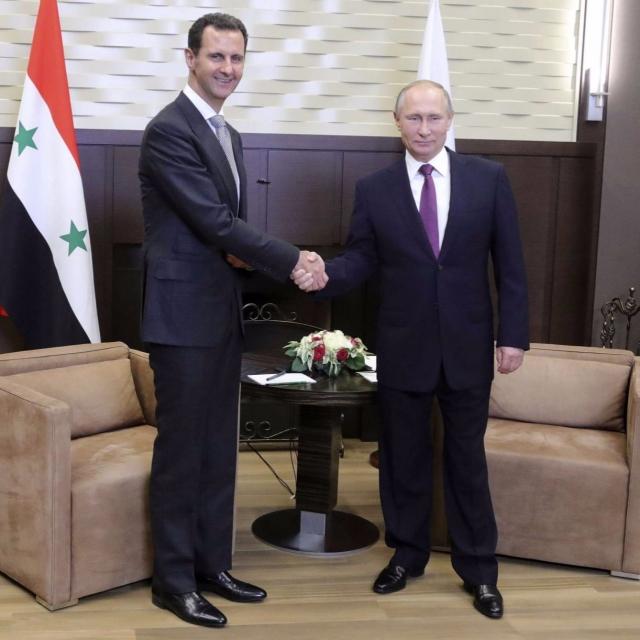 與普京探討敘利亞局勢