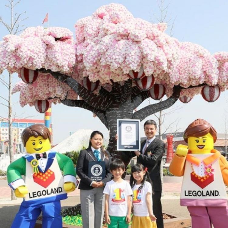 日本LEGO樂園砌全球最大櫻花樹