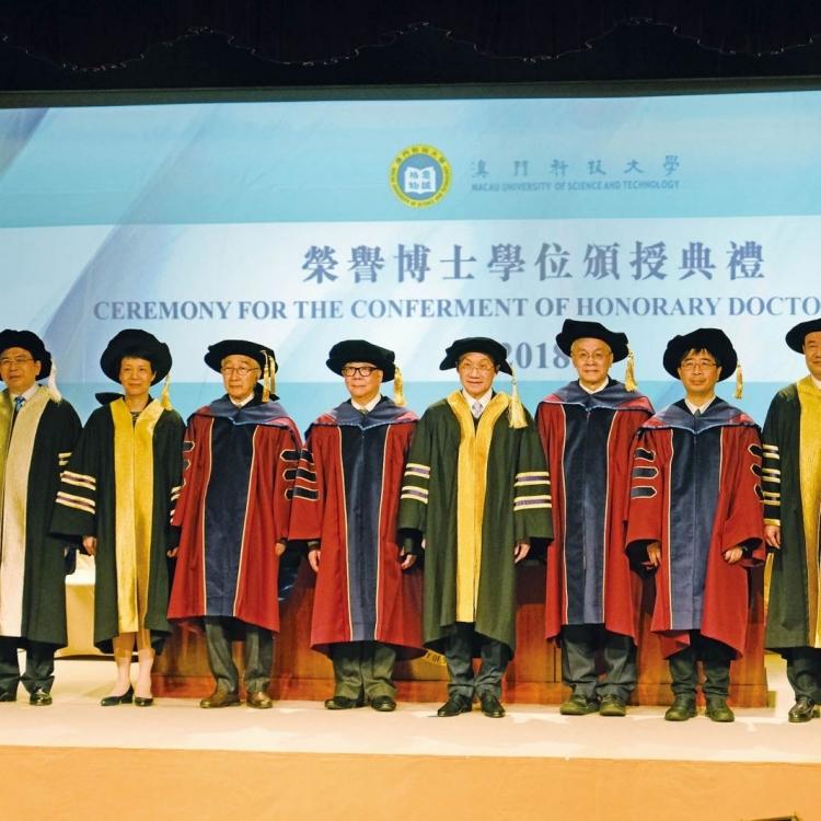 五傑出人士獲澳科大頒授榮譽博士學位