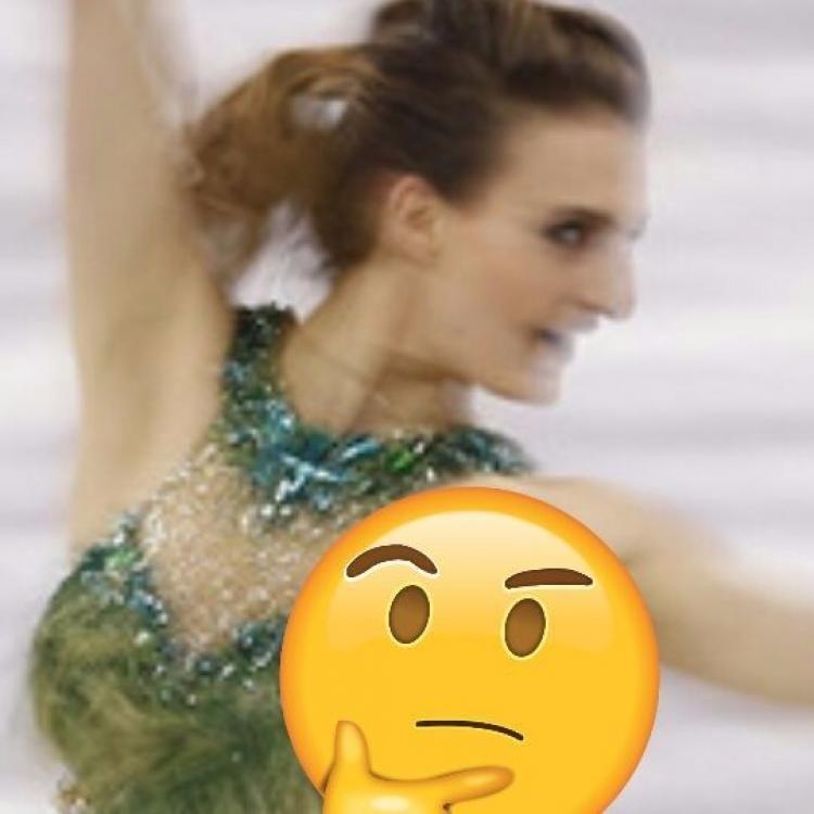 法國女滑冰選手不慎露點