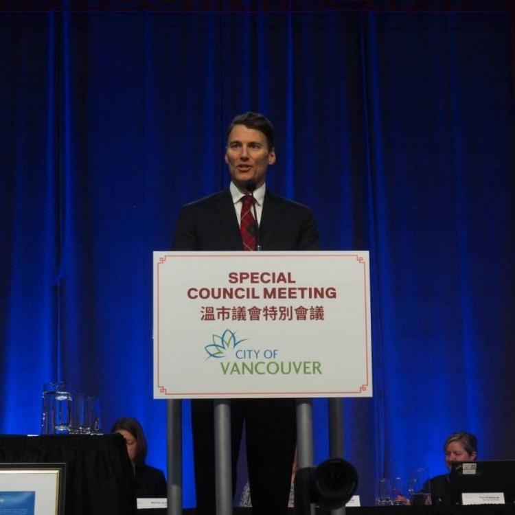溫哥華市長就歧視歷史向華人道歉