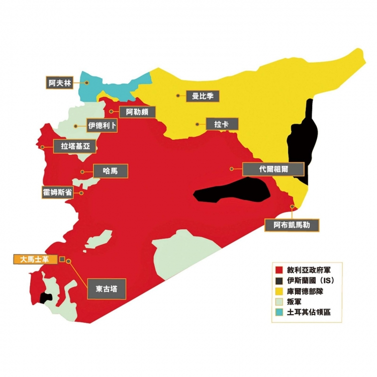 誰在敘利亞排兵布陣?