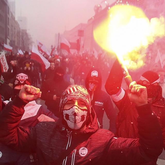 有右翼分子在華沙遊行