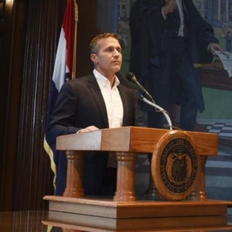美國密蘇里州州長宣布辭職