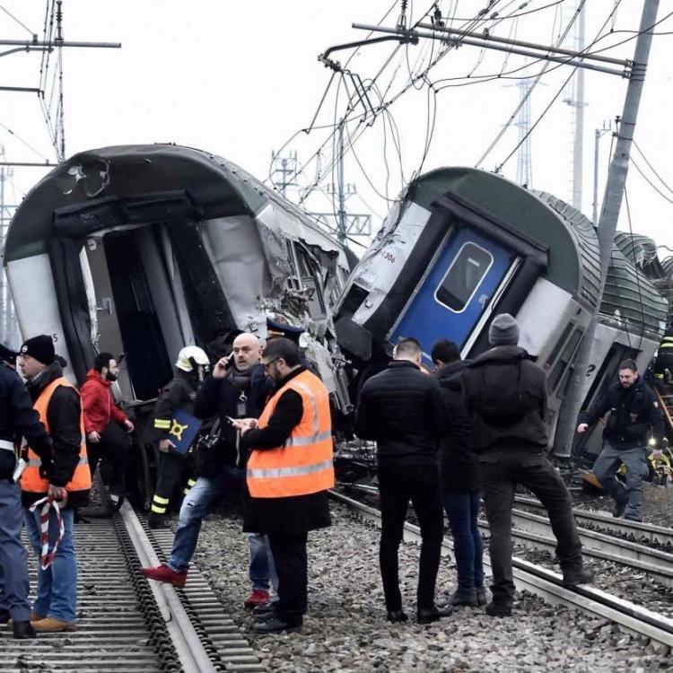 米蘭附近火車出軌三死逾百傷