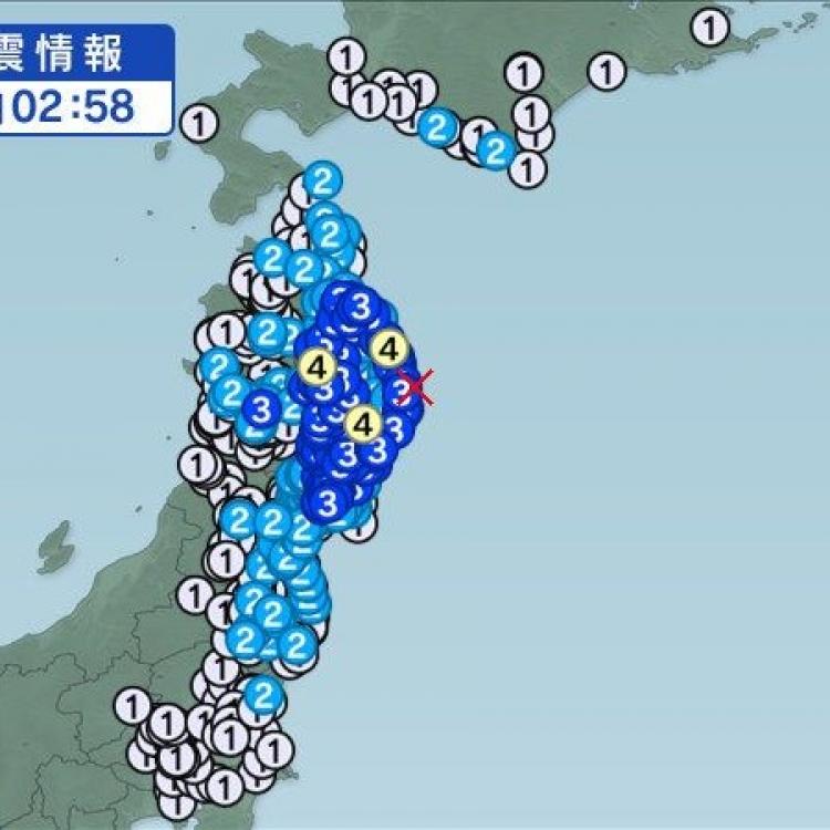 日本東北地區發生5.4級地震