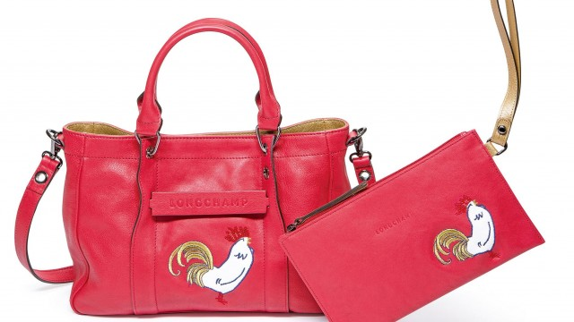 Longchamp 3D系列牛皮手袋