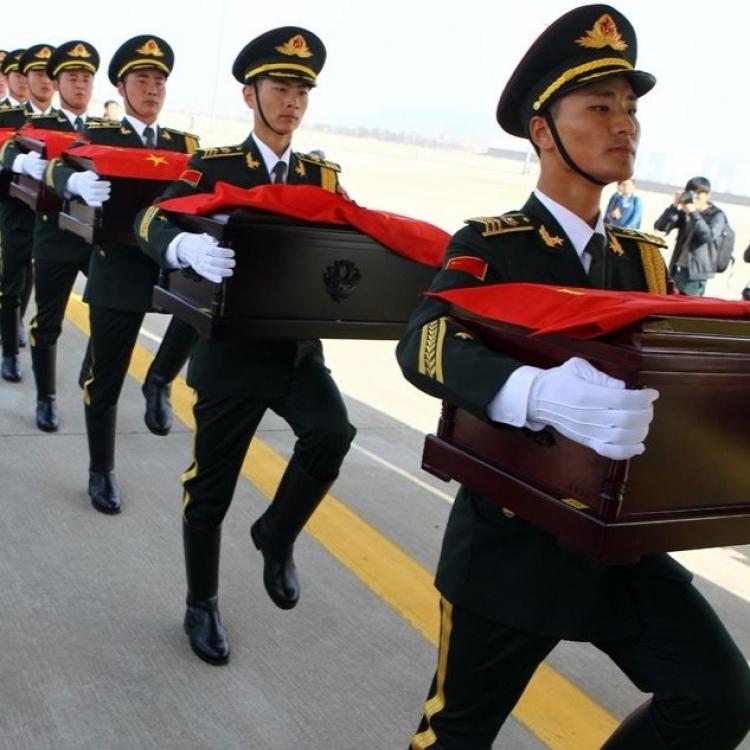 中韓將交接在韓中國志願軍烈士遺骸