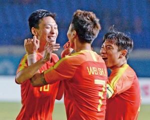 中國男足16強撼沙特