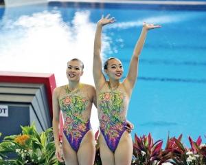 女子雙人花泳今決出總排名