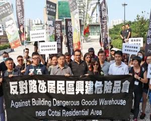 石排灣居民遊行 要求撤回方案