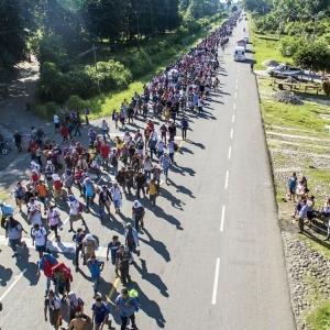 洪都拉斯移民北上擬闖美