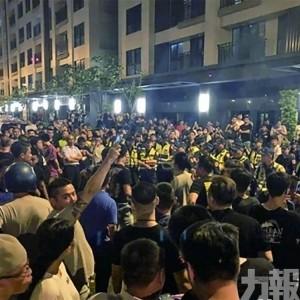 台中爆警民衝突