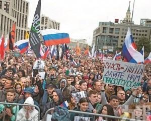 俄60,000人爭公平選舉