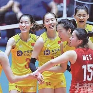 中國女排亞錦賽輕取哈薩克