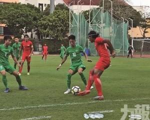 澳門U23足球友賽4球負新加坡