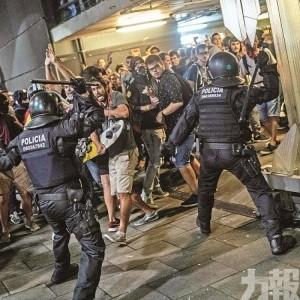 示威者堵機場爆警民衝突115傷