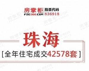 2019年全年珠海網簽總量61765套!