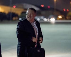 美國國務卿蓬佩奧抵達平壤