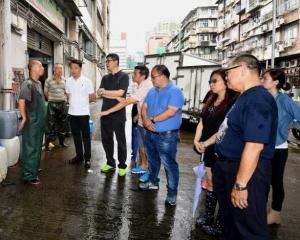 商戶呻水浸嚴重 民署將完善渠網