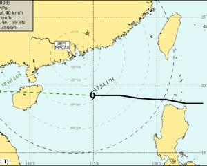 香港天文台改掛三號風球