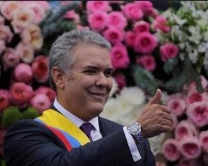 哥倫比亞新總統杜克宣誓就職
