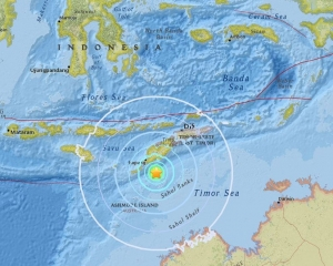 印尼帝汶島發生6.4級地震
