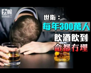 世衛:每年300萬人飲酒飲到命都冇埋