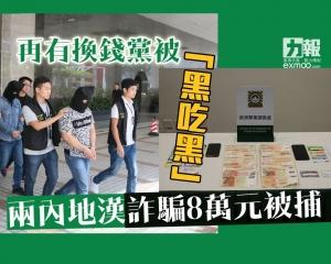 兩內地漢詐騙8萬元被捕