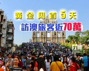 黃金周首5天訪澳旅客近70萬