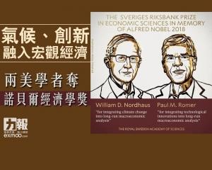 兩美學者奪諾貝爾經濟學獎