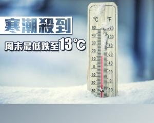 寒潮殺到 周末最低跌至13℃