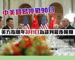 美方指明年3月1日為談判最後限期
