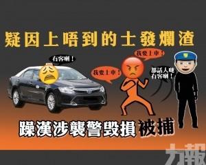 躁漢涉襲警毁損被捕