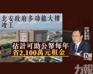 譚司:估計可助公帑每年省2,100萬元租金