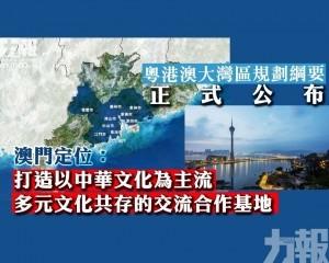 粵港澳大灣區規劃綱要正式公布