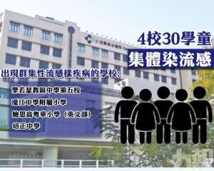 4校30學童集體染流感