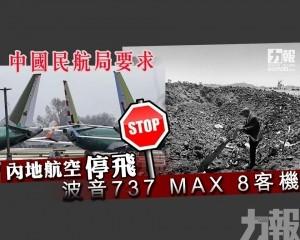 內地航空停飛波音737 MAX 8客機